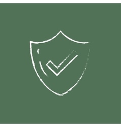 Quality is confirmed icon drawn in chalk vector