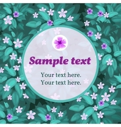 Lilac flower card with frame for text vector