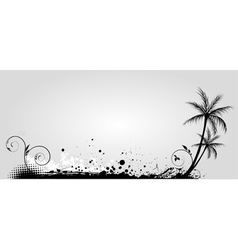 Gray banner palm vector