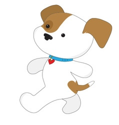 Cute puppy walker vector