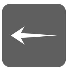 Arrow left flat squared icon vector