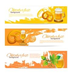 Banners of Oktoberfest beer design vector image vector image