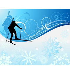 biathlon background vector image