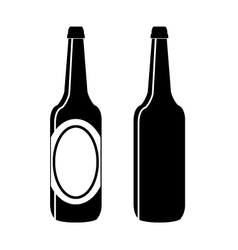 bottle of beer vector image vector image