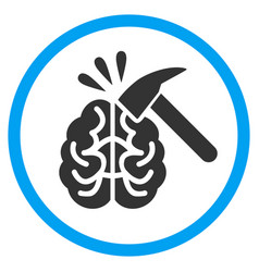 Brain impact rounded icon vector