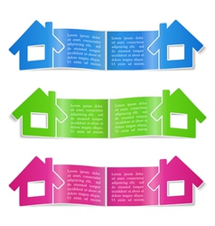 Brochure with a house vector image vector image