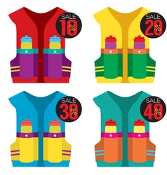 Colorful Hydration Vest On Sale vector image vector image