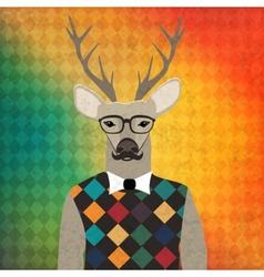 Deer hipster vector image vector image