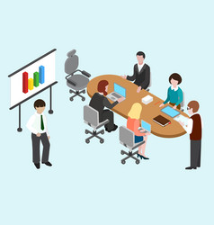 Flat 3d isometric business conference vector