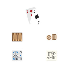 flat icon entertainment set of labyrinth ace vector image
