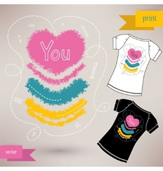 Graphic T- shirt design you vector image