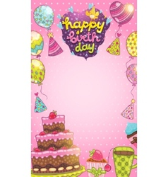 Happy Birthday card background vector image vector image