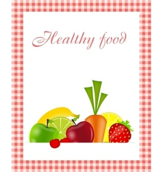 Healthy food menu template vector image vector image