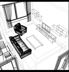layout of the apartment vector image vector image