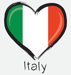 love Italy flag vector image