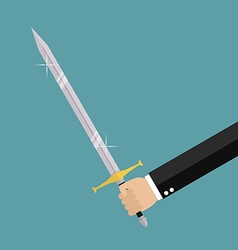 Man holding sword vector
