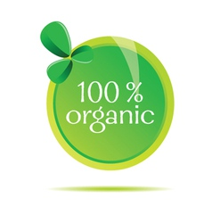 organic sign vector image vector image