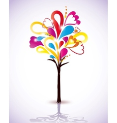 Painting colorful tree vector image vector image