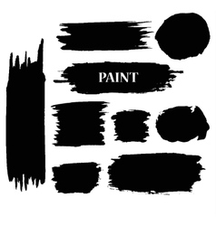 Set of Black ink paint stains vector image vector image