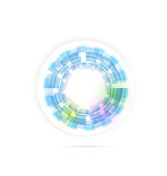 Technology ring transparent modernistic vector image