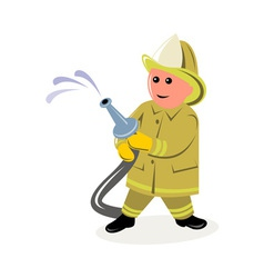 fireman fire fighter vector image