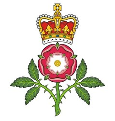 Royal badge of England Heraldic Tudor rose and vector image