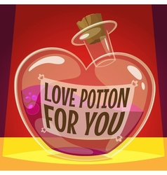 Love potion for you vector