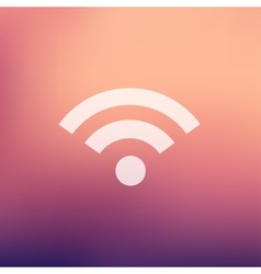 Wifi in flat style icon vector