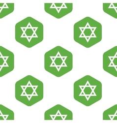 Star of David pattern vector image