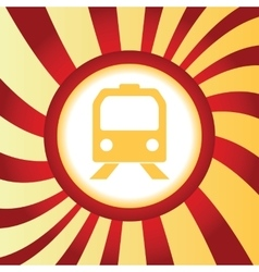 Train abstract icon vector