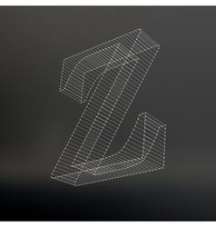 The letter polygonal letter low poly model the vector