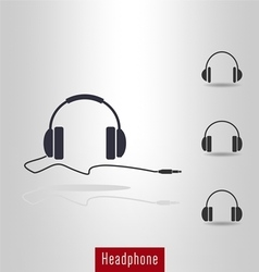 Set of headphone icon vector