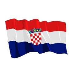 Political waving flag of croatia vector
