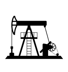 Silhouette of oil pump vector image