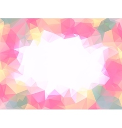 Neutral pink polygon background or frame vector image