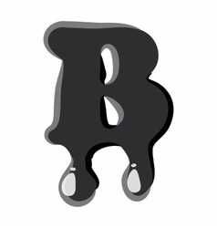 B letter isolated on white background vector image vector image