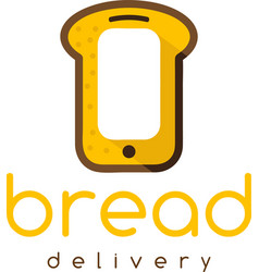 Bread delivery concept with smartphone vector