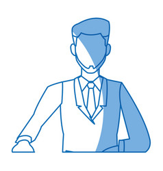 cartoon man business elegant manager vector image