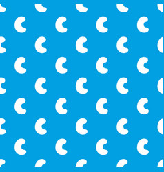 cashew pattern seamless blue vector image
