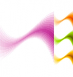 color waves vector image