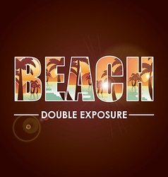 doble exposure vector image vector image