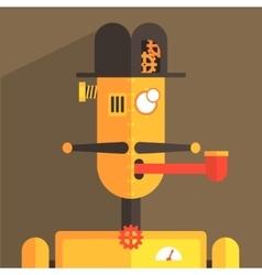 English gentleman robot character vector