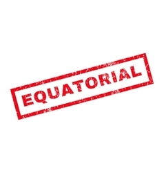 Equatorial rubber stamp vector