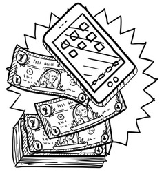 Expensive phone vector image