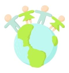 Globe icon cartoon style vector