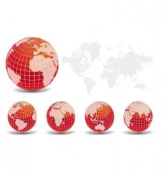 glossy world vector image vector image