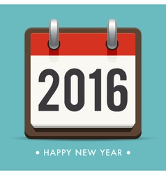Happy new year 2016 card calendar vector
