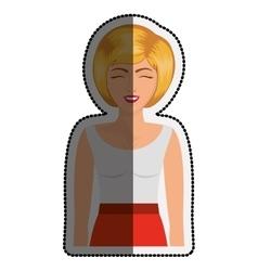 Isolated retro woman cartoon design vector