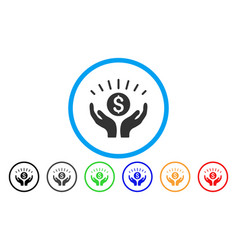 Prosperity rounded icon vector