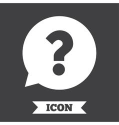 Question mark sign icon Help symbol vector image vector image